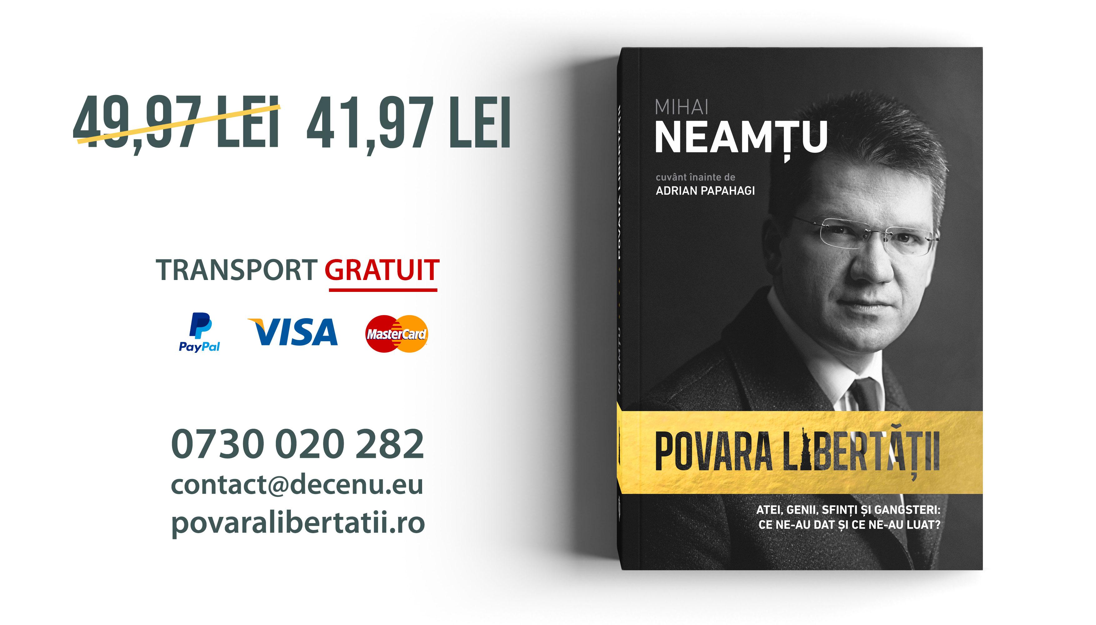 Povara Libertatii, Mihai Neamtu, Ofertă precomandă